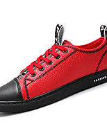 cheap -Men's Shoes PU Spring Fall Comfort Sneakers for Casual Black Red Black/Red White/Yellow