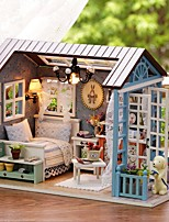 cheap -Doll House DIY Miniature Dollhouse Model Toy Toys Exquisite House Shaped Romance Lovely Pieces Birthday Gift