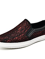 Недорогие -Муж. обувь Дышащая сетка Весна Лето Обувь для дайвинга Удобная обувь Мокасины и Свитер для Повседневные Офис и карьера Черный Серый Винный