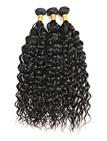 cheap -Brazilian Hair Remy Curly Human Hair Weaves 3pcs 0.3