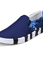cheap -Men's Shoes Fabric Spring Fall Comfort Loafers & Slip-Ons for Casual Black Dark Blue