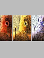 cheap -Oil Painting Hand Painted - Abstract Classic Canvas Three Panels