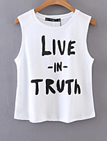 cheap -Women's Holiday Basic Cotton T-shirt - Letter, Print