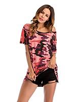 economico -T-shirt Per donna Attivo Con stampe, Camouflage