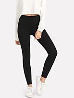 abordables -Mujer Deportivo Legging - Bordado Alta cintura