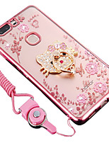 cheap -Case For Huawei Honor 8 Shockproof Rhinestone with Stand Back Cover Cartoon Soft Silicone for Huawei Honor V8