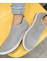 Недорогие -Муж. обувь Терилен Весна Осень Удобная обувь Мокасины и Свитер для Повседневные Черный Серый