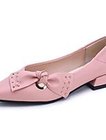 economico -Per donna Scarpe PU (Poliuretano) Primavera Comoda Ballerine Piatto Appuntite Fiocco per Casual Nero Rosa