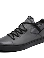 cheap -Men's Shoes Cowhide Nappa Leather Spring Fall Comfort Sneakers Walking Shoes for Casual Black Gray