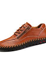 Недорогие -Муж. обувь Наппа Leather / Кожа Весна / Осень Удобная обувь Кеды Для прогулок Оранжевый / Коричневый / Синий