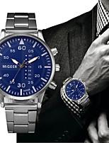 cheap -Men's Quartz Dress Watch Fashion Watch Chinese Chronograph Stainless Steel Band Elegant Fashion Black Silver