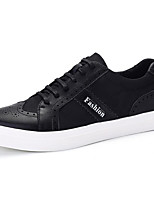 cheap -Men's Shoes PU Spring Fall Comfort Sneakers for Casual Black Wine