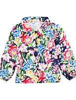 cheap -Unisex Daily Holiday Floral Suit & Blazer, Cotton Polyester Spring Fall Long Sleeves Casual Rainbow