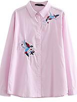Недорогие -Жен. Рубашка, Рубашечный воротник Геометрический принт