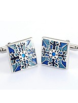 cheap -Envelope / Rectangular Silver Cufflinks Copper Classic Fashion Daily Formal Men's Costume Jewelry