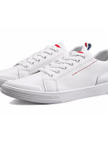 cheap -Men's Shoes PU Spring Fall Light Soles Sneakers for Casual White Black Pink/White