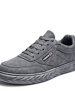 cheap -Men's Shoes PU Spring Fall Comfort Sneakers for Casual Black Gray Khaki