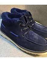 cheap -Men's Shoes Fur Fall Winter Snow Boots Comfort Boots Booties/Ankle Boots for Casual Dark Blue Gray Coffee