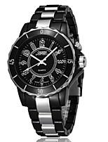baratos -OHSEN Mulheres Casal Quartzo Relógio Elegante Relógio de Moda Relógio Casual Chinês Impermeável Relógio Casual Lega Banda Luxo Casual