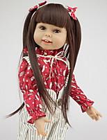 Недорогие -Куклы реборн Дети 18дюймовый Полный силикон для тела / Силикон Универсальные Детские Подарок