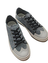 cheap -Men's Shoes Pigskin Spring Fall Comfort Sneakers for Casual Outdoor Black Gray Khaki