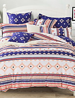 cheap -Duvet Cover Sets Grid/Plaid Patterns Contemporary 3 Piece Poly/Cotton 100% Cotton Reactive Print Poly/Cotton 100% Cotton 1pc Duvet Cover