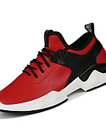 cheap -Men's Shoes PU Spring Fall Comfort Sneakers for Casual Black Red