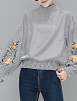 abordables -Mujer Básico Camiseta,Cuello Barco