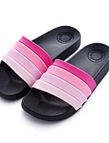 cheap -Women's Shoes Synthetic Summer Comfort Slippers & Flip-Flops Flat Heel for Casual Purple Fuchsia Red