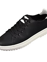 cheap -Men's Shoes Synthetic Microfiber PU Spring Fall Comfort Sneakers for Casual Black Dark Red