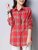 cheap -Women's Basic Shirt Shirt Collar