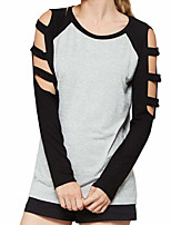 cheap -Women's Simple T-shirt - Color Block