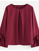 preiswerte -Damen Solide Bluse Polyester