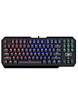 cheap -REDRAGON K553RGB Wired Cable RGB Backlit Blue Switches 87 Ergonomic Keyboard Gaming Keyboard Portable Comfy Backlit