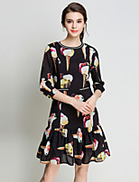 cheap -SHIHUATANG Women's Sophisticated Street chic A Line Trumpet/Mermaid Dress - Floral, Print