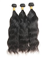 cheap -Mongolian Natural Wave Human Hair Weaves 3pcs 0.3