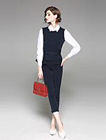 abordables -Femme Basique Chemise - Rayé Pantalon