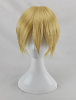cheap -Synthetic Wig Straight Layered Haircut Natural Hairline Blonde Men's Capless Party Wig Cosplay Wig Short Synthetic Hair