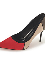 cheap -Women's Shoes Fleece Spring / Fall Basic Pump Heels Stiletto Heel Pointed Toe Black / Red / Party & Evening