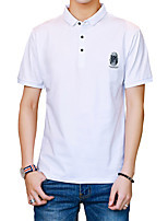 cheap -Men's Sports Basic Street chic Cotton Slim Polo - Solid Colored, Print Shirt Collar