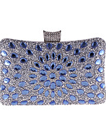 cheap -Women's Bags Polyester Evening Bag Crystal Detailing for Wedding Event/Party All Seasons Blue Gold Silver