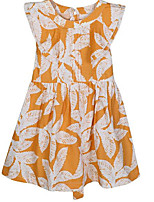 cheap -Girl's Daily Floral Dress, Cotton Spring Summer Sleeveless Cute Casual Orange