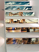 cheap -Famous Scenic Wall Stickers 3D Wall Stickers Decorative Wall Stickers, Vinyl Paper Home Decoration Wall Decal Wall