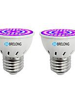 cheap -BRELONG® 2pcs 7W 300 lm E14 GU10 MR16 E26/E27 Growing Light Bulbs 54 leds SMD 2835 Blue 220-240V