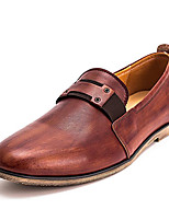 cheap -Men's Shoes Cowhide Nappa Leather Spring Fall Comfort Loafers & Slip-Ons for Casual Brown