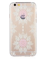 abordables -Funda Para Apple iPhone 8 iPhone 7 Diseños Funda Trasera Flor Impresión de encaje Suave TPU para iPhone 8 Plus iPhone 8 iPhone 7 Plus