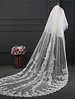 cheap -Two-tier Retro Wedding Veil Cathedral Veils 53 Embroidery Tulle