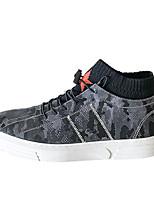 baratos -Homens sapatos Micofibra Sintética PU Inverno Conforto Tênis para Casual Preto Cinzento