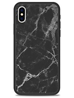 abordables -Funda Para Apple iPhone X iPhone 8 Plus Diseños Funda Trasera Mármol Dura Acrílico para iPhone X iPhone 8 Plus iPhone 8 iPhone 7 Plus