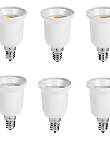 cheap -6pcs E14 to E27 E14 Converter Bulb Accessory Light Socket Plastic